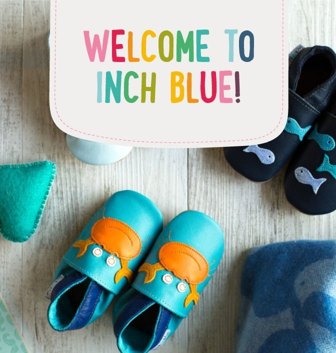 73b6230b0e48d Inch Blue | Soft Leather Baby Shoes