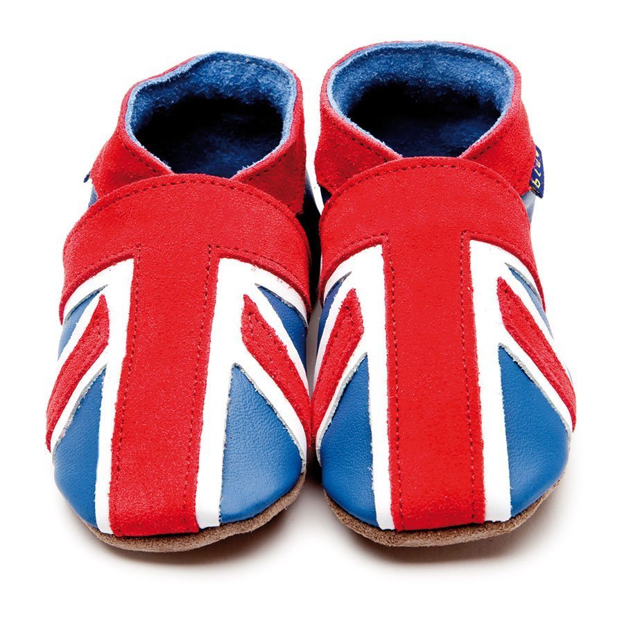 Union Jack Baby Shoes Blue/Coral