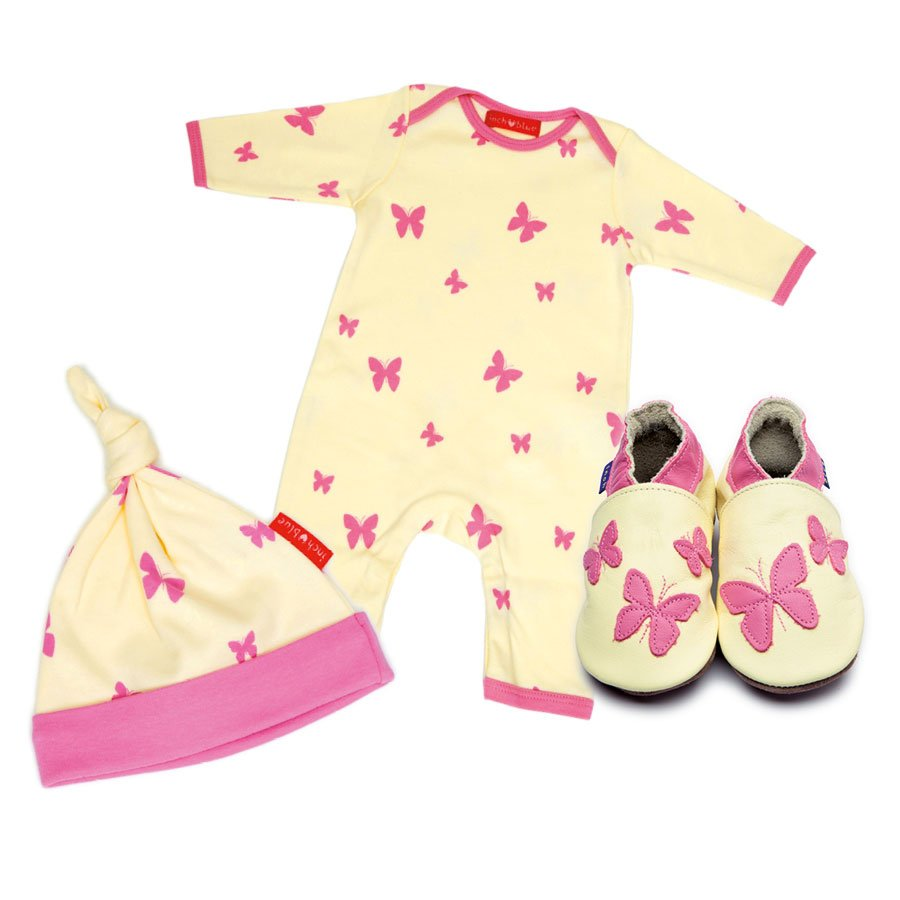 Print Kaleidoscope Babygro, Hat & Shoe Set
