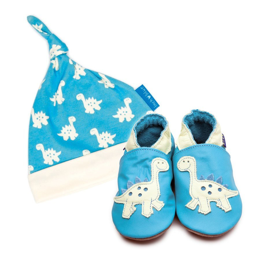 Print Dinosaur Hat & Shoe Set