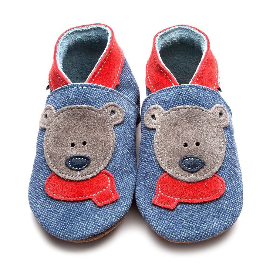 Bertie Bear Blue Denim/Red