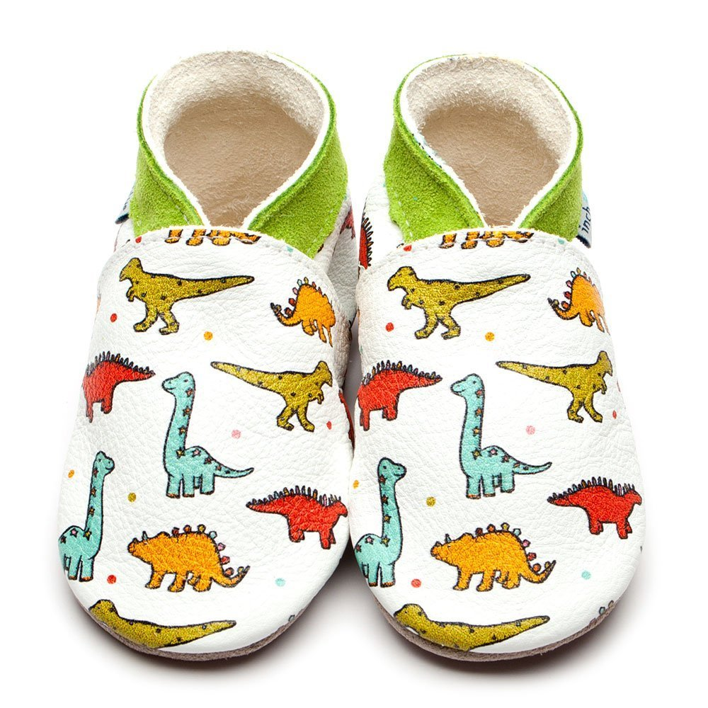 Leather Jurassic Baby Shoes | Boy | Dinosaur | Handmade