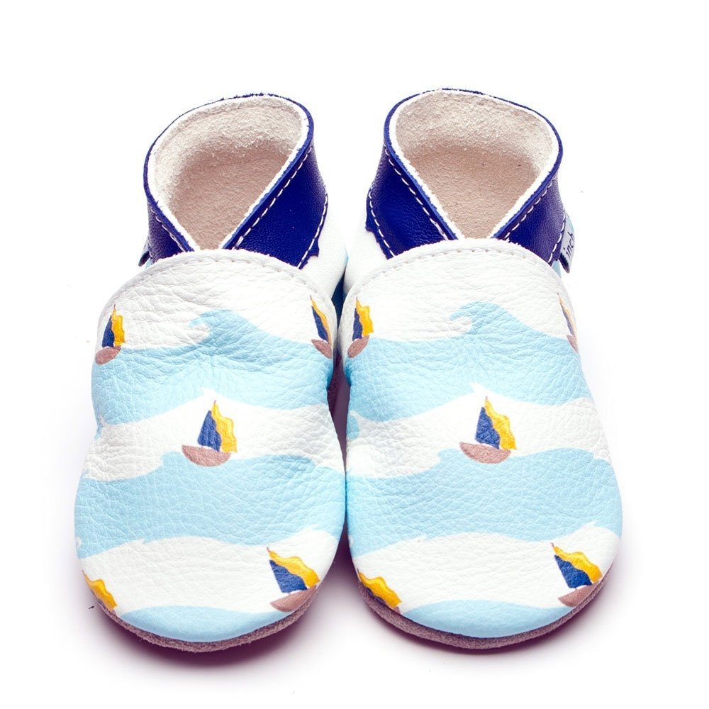 Leather Sail Away Baby Shoes | Boy | Sea Captain | Flexible
