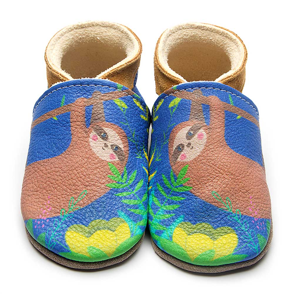 Leather Sloth Baby Shoes | Girl & Boy | Cute Animal | Cow Nappa Leather