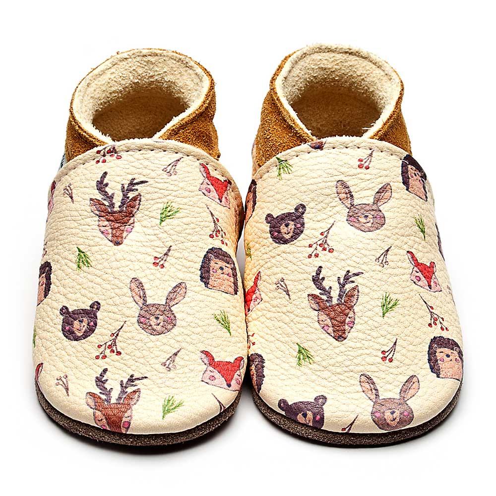 Leather Woodland Baby Shoes | Girl & Boy | Woodland Animals | Breathable